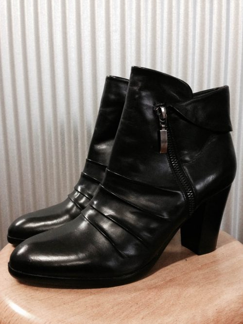 genuine leather ankle boot