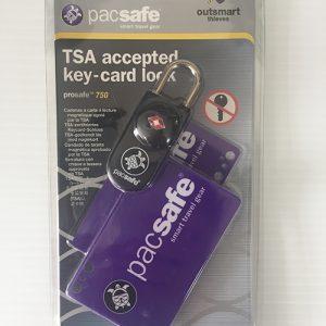 Pacsafe prosafe 750 key card lock