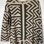 58a aggel aztec design knit jumper