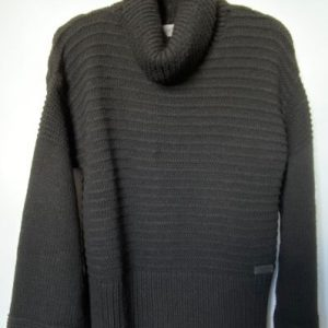 60a aggel black cowl neck knit jumper