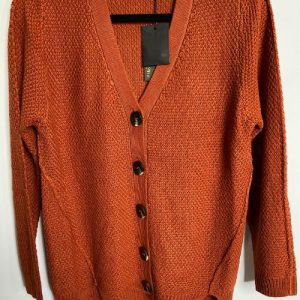 64a eb and ive emmeline terracotta cardigan