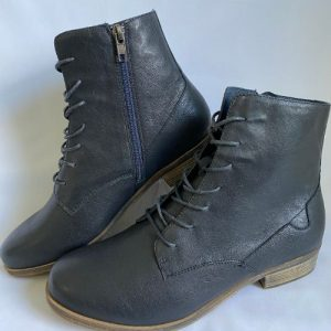 67a django and juliette navy lace up ankle boot