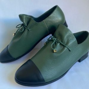 Django Juliette forest green womens leather shoe