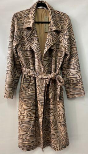 Safari trench coat zebra print suede