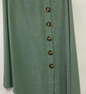 Eb & Eve Manyara asymmetrical linen blend skirt in sage