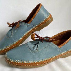 Cabello genuine leather casual shoe in denim colour