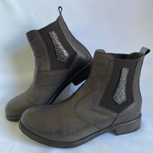 miss m brand brown winter leather boots with side gussets