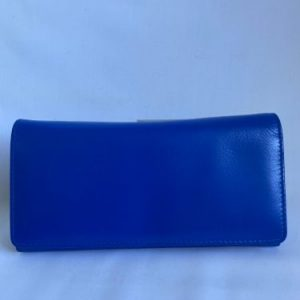 royal blue genuine leather wallet