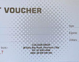 colour drop gift voucher
