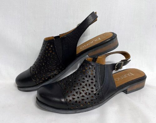 91a bueno laser cut leather slingback